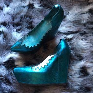 Jeffrey Campbell Shoes - NWOT RARE Jeffrey Campbell Shark Teeth Havana Last